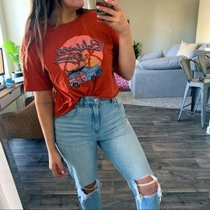 California dreamin cropped graphic tee
